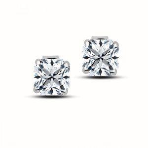 2 Ct Princess Cut Diamond Women Stud Earring 14k W